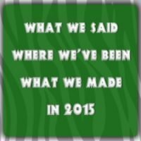 What we said, where we've been, what we made in 2015!