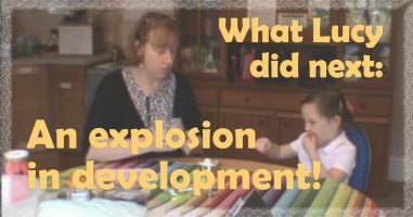 What autistic schoolgirl Lucy, did next: An explosion in development