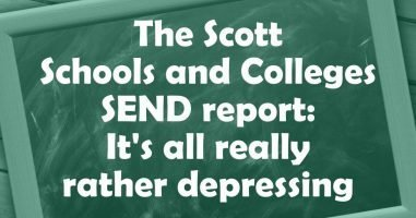 The Scott Schools and Colleges SEND report: It's really rather depressing