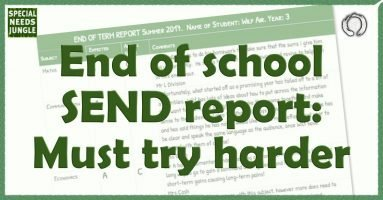 End of school SEND report: Must try harder