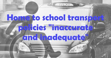 """Home to school transport policies """"inaccurate and inadequate"""""""