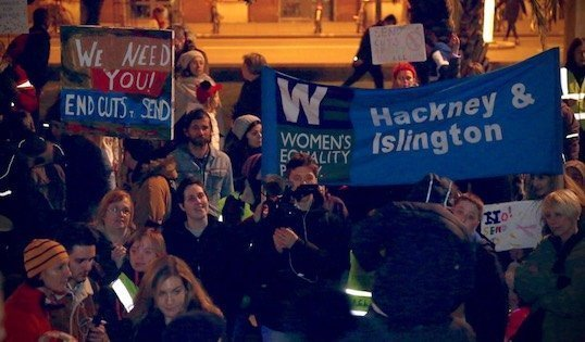 Hackney protest, Photo by Melissa Byers!