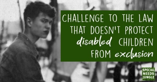 Challenge to law doesnt protect disabled children exclusion. Base image Photo by Mikail Duran on Unsplash