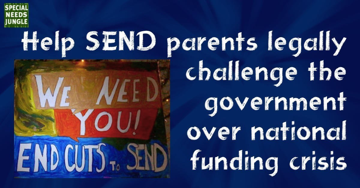 Help SEND parents legally challenge the government over national funding crisis