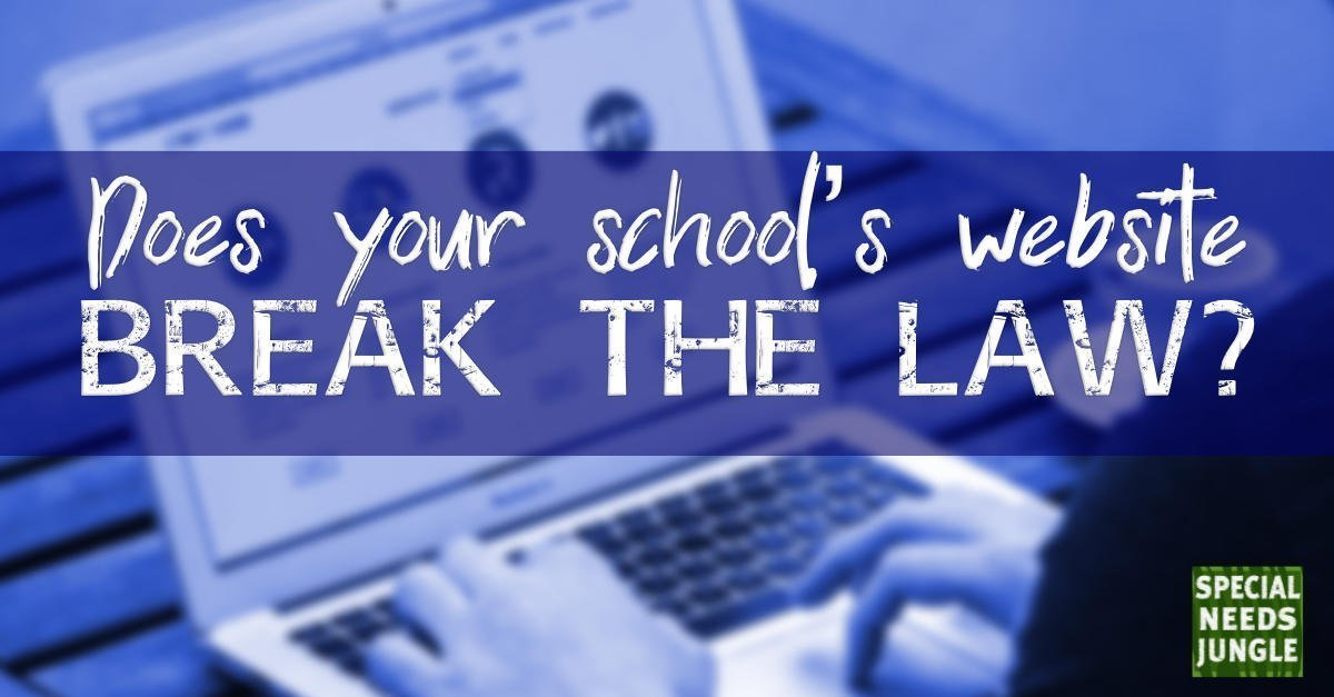 Does your school's website break the law?