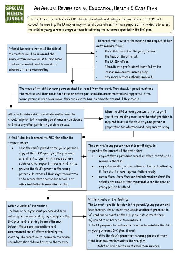 SNJ Annual Review flow chart