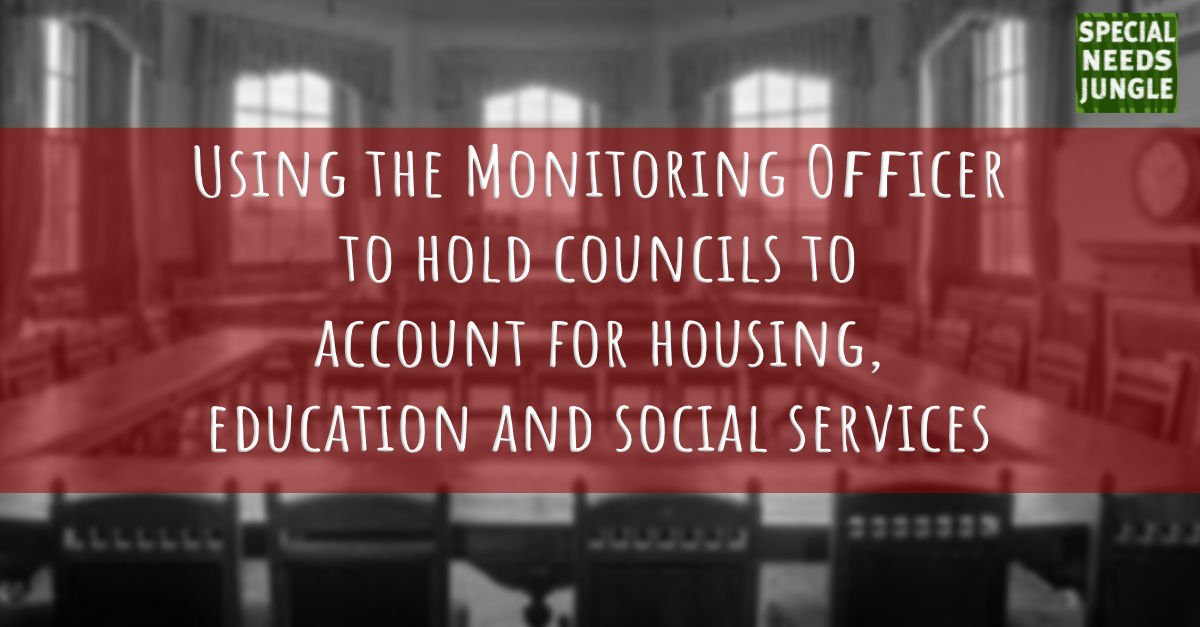 Using the Monitoring Officer to hold councils to account for housing, education and social services